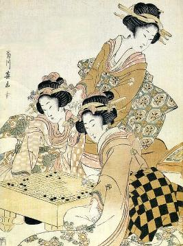 women playing go