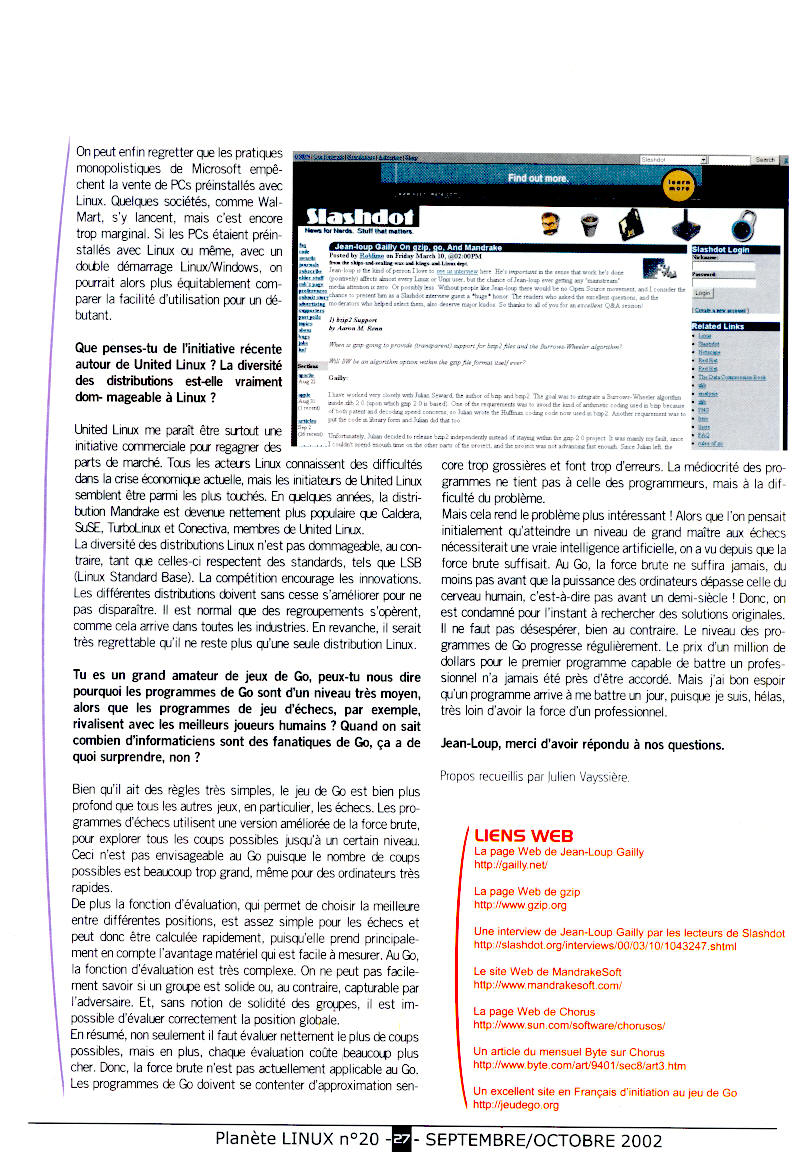 Jean-loup Gailly interview - Planete Linux